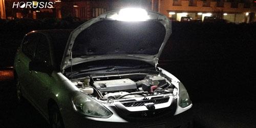 車の整備用ライトや車内ルームランプとして使う