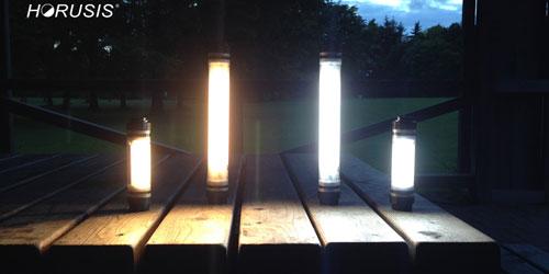 暖色光と白色光の比較